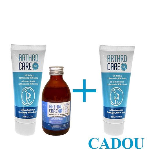 Pachet Arthro Care Gel si Arthro Care in froma lichida Sticla + 1 Gel Cadou