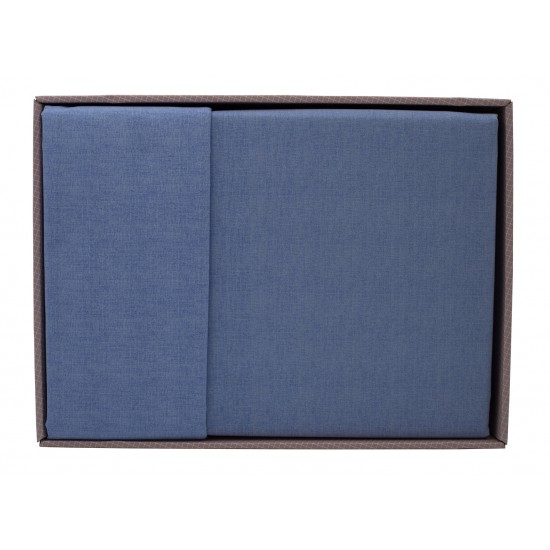 Lenjeria Bottega home  Gri-Albastru +  Lenjeria Bottega home  Gri-Mov/Lila + 2 perne cadou