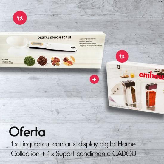Lingura cu  cantar si display digital Home Collection+Suport condimente CADOU