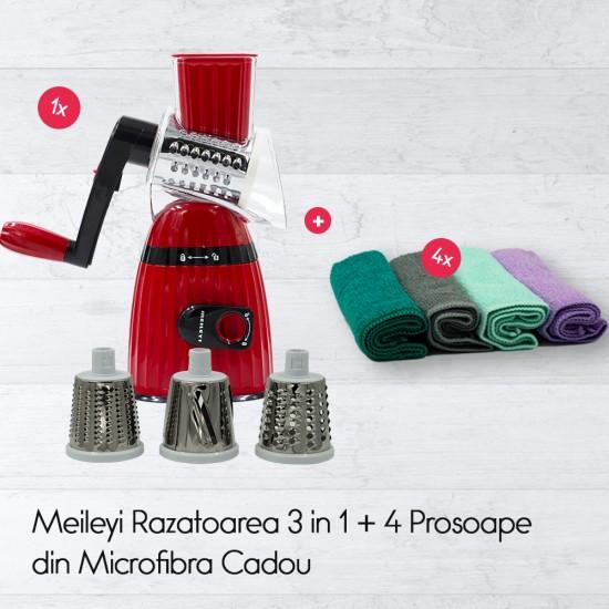 Meileyi Top Slicer Razatoarea 3 in 1+4 Prosoape din Microfibra Cadou