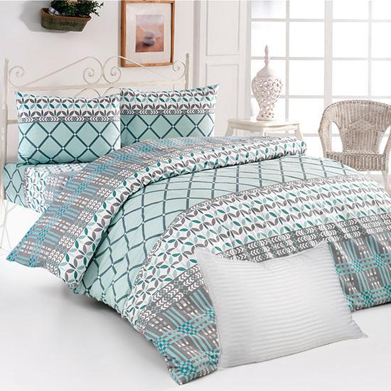 Pachet Bottega Home Bed Line Double Set 200*220 cm - TURCOAZ + Perna Bottega Home CADOU