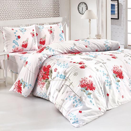 Bottega Home Bed Line Double Set 200*220 cm - RED FLORAL