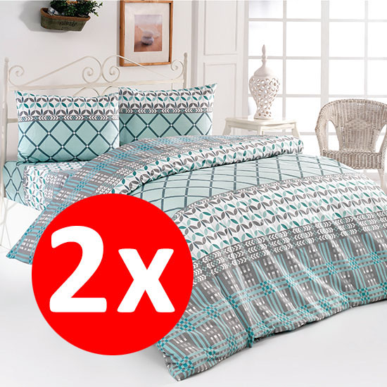 2 Bottega Home Bed Line Double Set 200*220 cm - TURCOAZ + TURCOAZ