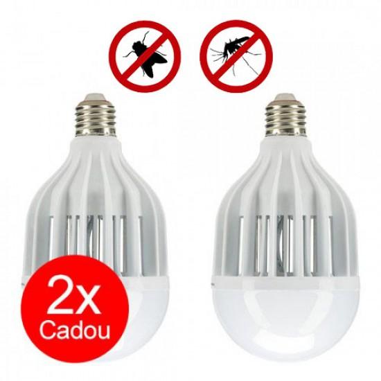 Pest Reject Light Zapper lampă led și capcană pentru muște și țânțari 2+2 CADOU