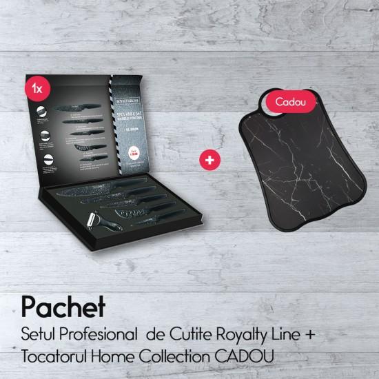 Setul Profesional  de Cutite Royalty Line +Tocatorul Home Collection CADOU