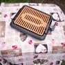 Gratar electric fara fum home Collection + fata de masa CADOU