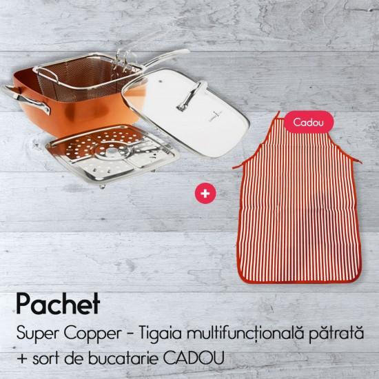 Super Copper - Tigaia multifuncțională pătrată + sort de bucatarie CADOU