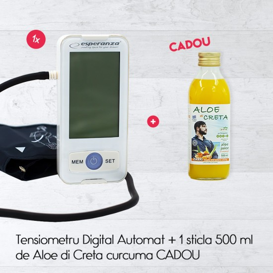 Tensiometru Digital Automat + 1 sticla 500 ml de Aloe di Creta curcuma CADOU