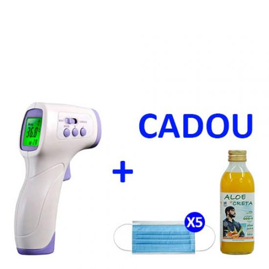 Termometrul digital Blunt Bird + 1 Aloe di Creta Curcuma 500ml Cadou + 5 Masti de Protectie Cadou