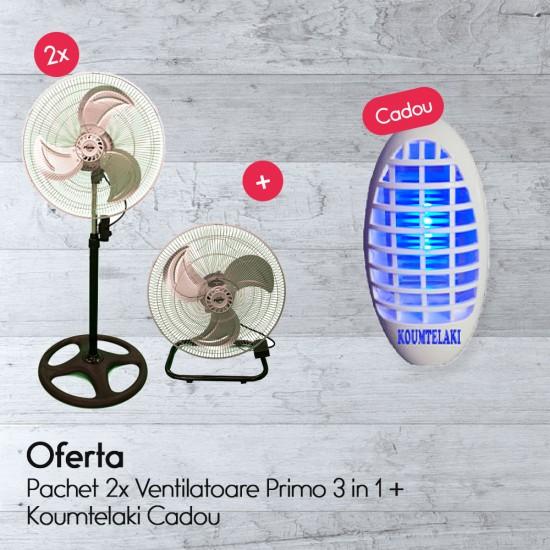 Pachet 2x Ventilatoare Primo 3 in 1 + Koumtelaki Cadou