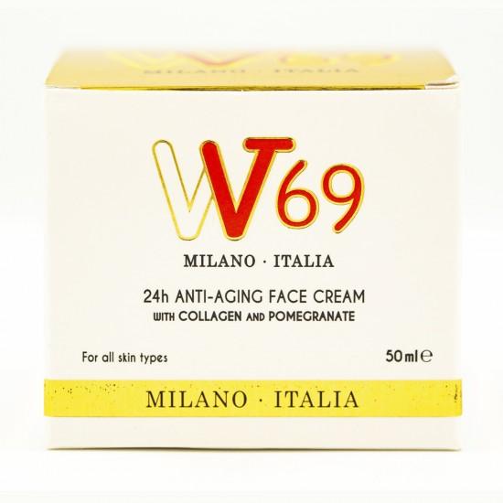 Crema 24 de ore Anti Aging cu Colagen si Rodie VV69